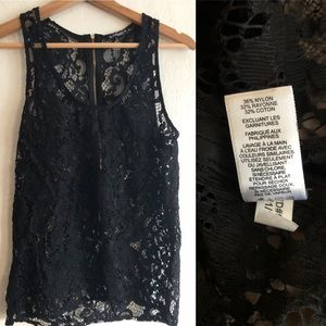 Express black lace sleeveless top see through S/P